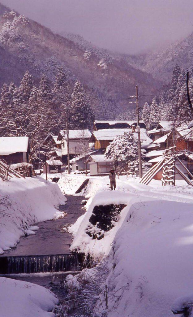「里山雪景色」