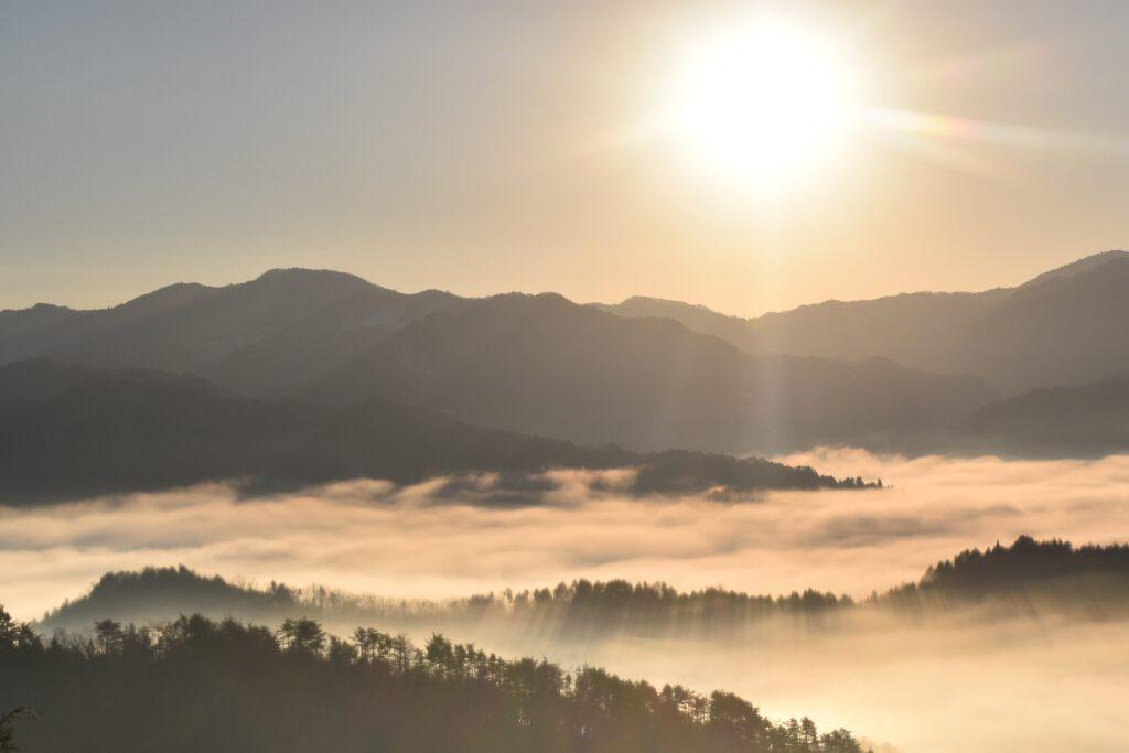 「君尾山の雲海」