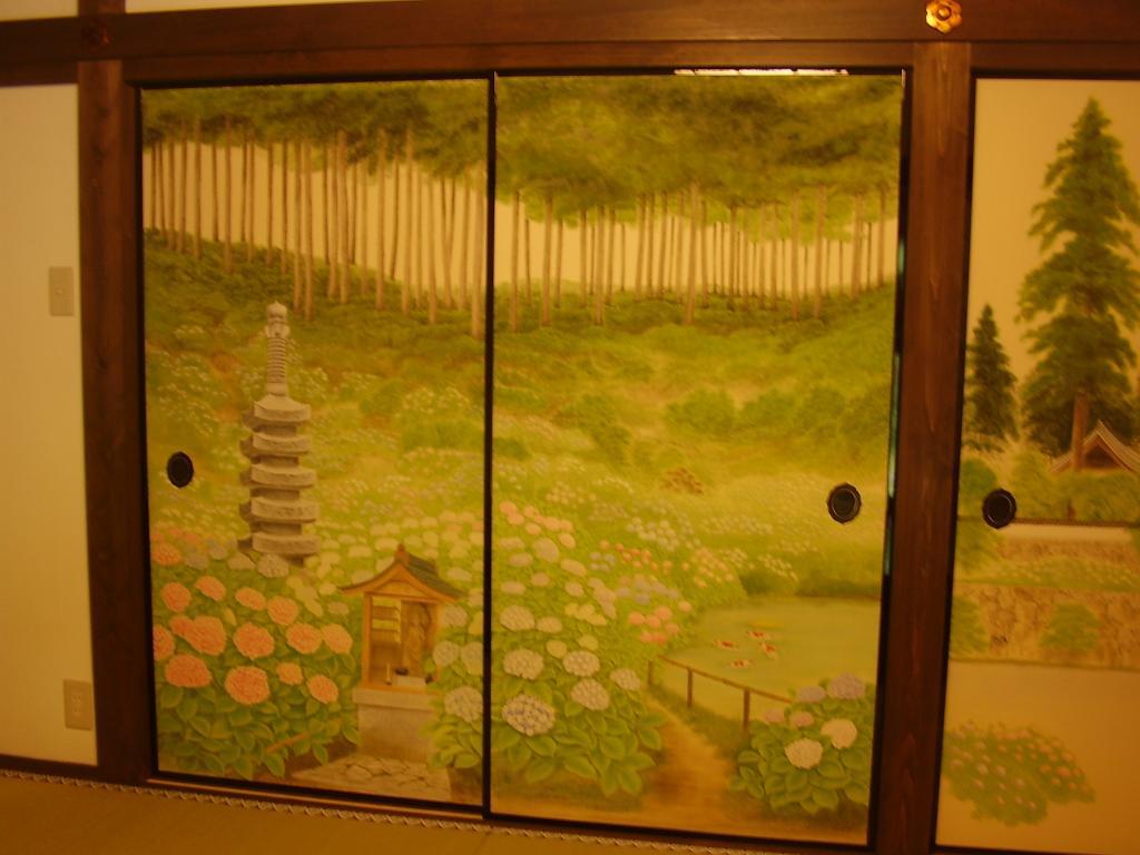 「觀音寺」襖絵