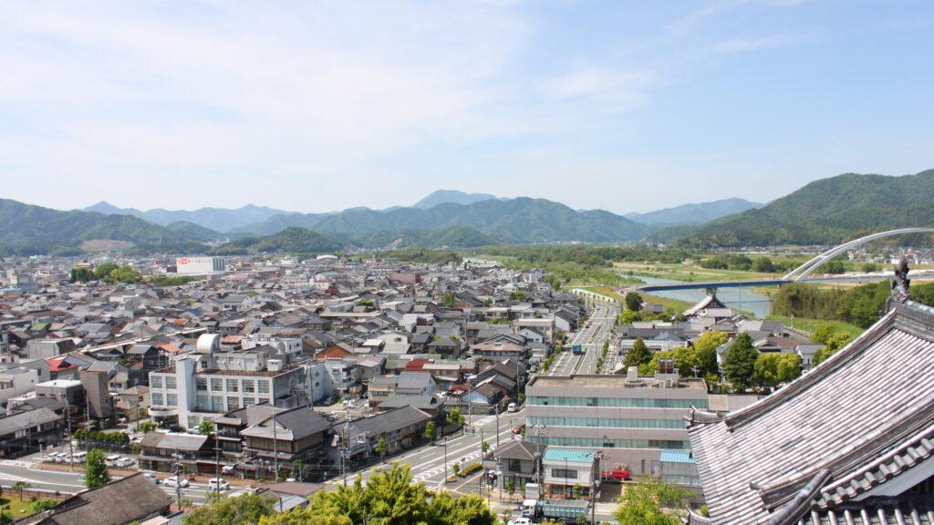福知山市の町並み