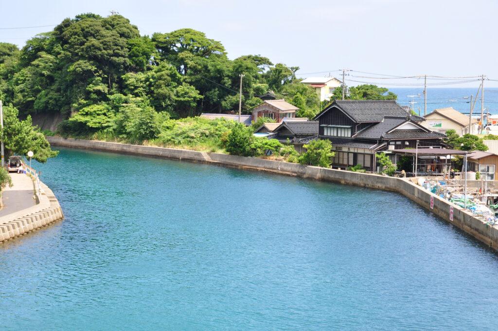 湊小橋から見える風景(久美浜)