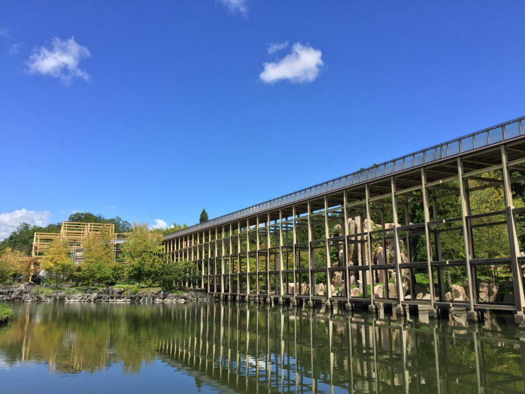 けいはんな記念公園:水景園 観月橋 初秋